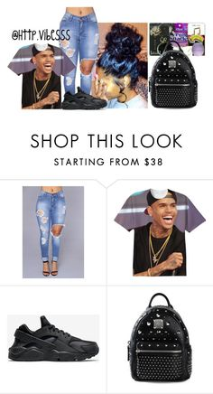 """Untitled #803"" by jazaiah7 ❤ liked on Polyvore featuring NIKE and MCM"