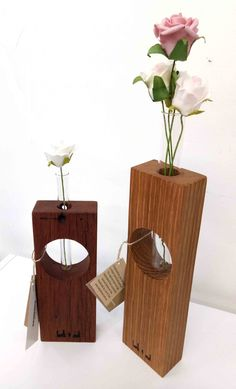 Lark & Owl - Single Test Tube Vases made in beautiful timber