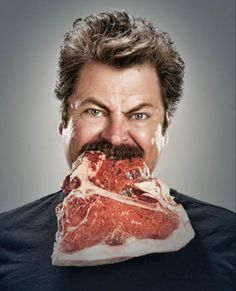 Ron: When I'm done eating a Mulligan's meal, for weeks afterwards, there are flecks of meat in my mustache. And I refuse to clean it because every now and then a piece of meat will fall into my mouth.