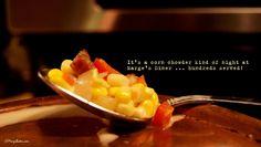 It's a corn chowder kind of night ...