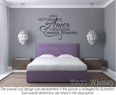 Spanish Quote No Recordamos Los Dias Recordamos by VinylWhimsy The Effective Pictures We Offer You About feng shui bedroom water A quality picture can tell you many things. You can find the most beaut Bedroom Wall Colors, Bedroom Decor, Bedroom Lighting, Vinyl Wall Art, Wall Decals, Wall Art Quotes, Vinyl Lettering, Vinyl Designs, Sweet Home