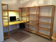 仕事部屋 IKEA IVAR Desk & bookshelves
