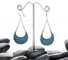 Sterling Silver Hobo Earrings / Drop Earrings by HouseofMetalworks, $32.00