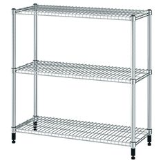 IKEA - OMAR, Shelf unit, Easy to assemble – no tools required.Adjustable shelves make it simple for you to adjust the space to suit your needs.Also stands steady on an uneven floor since the feet can be adjusted. Ikea Shelves, Shelves In Bedroom, Metal Shelves, Wire Shelving, Glass Shelves, Adjustable Shelving, Shelving Units, Storage Shelves, Kallax Shelf
