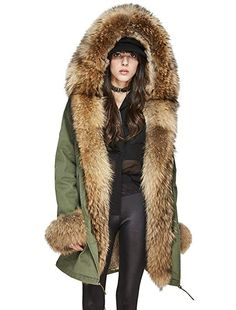 DORIC Mens Winter Faux Fur Lined Hooded Parka Jacket Casual Mid-Length Warm Coat with Detachable Fur Hood