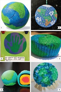 Earth day crafts. The play doh one is awesome!!