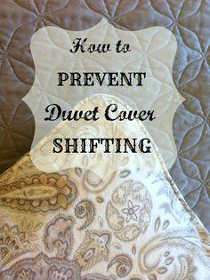 How To Prevent Duvet Cover Shifting