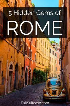 Hidden gems, secret places, and off the beathen path things to do in Rome Italy. Italy Travel Tips, Rome Travel, Places To Travel, Places To See, Voyage Rome, Venice Italy, Tuscany Italy, Sorrento Italy, Naples Italy