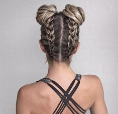 Braided Hairstyles for Long Hair hair tutorial video Pretty Braided Hairstyles, Cool Hairstyles, Braid Hairstyles, Hairstyle Ideas, Latest Hairstyles, Two Buns Hairstyle, Hairstyle Tutorials, Hairstyles Haircuts, Hairstyles For The Gym