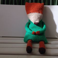 Friends For sale. Knitted fox.