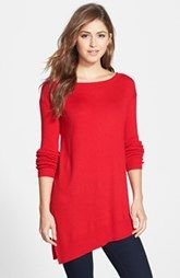Vince Camuto Asymmetrical Hem Tunic Sweater (Regular & Petite)