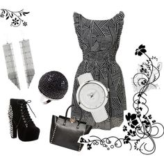 """""""Black & White"""" by oxette-romania on Polyvore"""