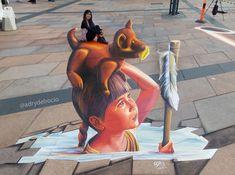 """#3D #adrydelrocio Brande, Denmark """"Siempre cargo a México conmigo"""" """"I always carry Mexico with me""""  Brande Street Art"""