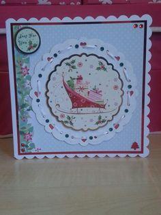 Love Christmas 8x8 card