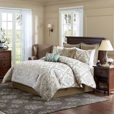 Madison Park Signature Sheffield 8-Piece Comforter Set - Overstock™ Shopping - Great Deals on Madison Park Comforter Sets