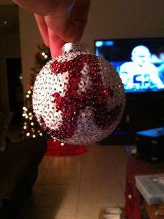 Alabama Crimson Tide Sequin Christmas Ornament by AutsomeIdeas, $18.00