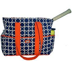 Citrus Navy Tennis Tote Bag