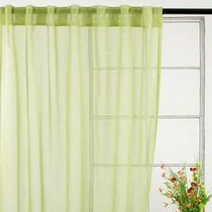 Cecile Curtain Panel in Green (Set of 2)