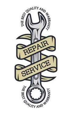 Illustration of Repair Service. vector art, clipart and stock vectors. Garage Logo, Garage Art, Car Repair Service, Auto Service, Cool Car Drawings, Auto Business, Motorcycle Logo, Motorcycle Tattoos, Logo Design