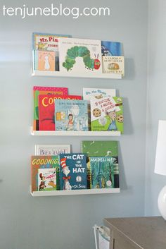 easy baby boy nursery ideas | Books are important in our house, so this is a space that will ...