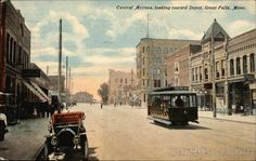 Central Avenue, Looking Toward Depot Great Falls Montana  Feb 12, 1915  Must be looking west? from about 3rd street.  http://www.cardcow.com/380504/central-avenue-looking-toward-depot-great-falls-montana/