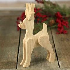 Unfinished Wood Standing Reindeer Figurine - Holiday Craft Supplies - Christmas and Winter - Holiday Crafts wood crafts crafts design crafts diy crafts furniture crafts ideas Christmas Wood Crafts, Handmade Christmas Gifts, Christmas Projects, Holiday Crafts, Christmas Diy, Christmas Decorations, Christmas Raindeer, Winter Wood Crafts, Christmas Items