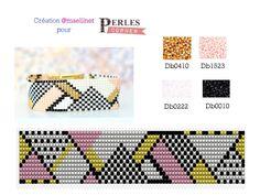 Peyote Beading Patterns, Loom Bracelet Patterns, Bead Loom Patterns, Loom Beading, Art Patterns, Weaving Patterns, Pattern Art, Free Pattern, Beaded Braclets