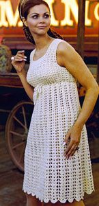 Empire Dress Free Crochet Pattern