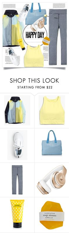 """Gym day"" by lidia-solymosi ❤ liked on Polyvore featuring Loewe, J.Crew, New Balance, Chanel, Beats by Dr. Dre, Marc Jacobs and sportychic"