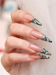 fingernails designs | tiger nails design