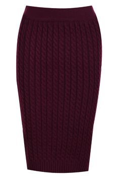 Claret-red Knitted Striped Skirt(Coming Soon)