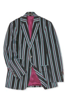 A distinctive winter take on a traditional boating blazer, this jacket is cut in soft cotton velvet, fabric woven in Italy. It features two buttons to fasten, straight flap pockets with a ticket pocket, and our signature Savile Row spaced cuffs. Savile Row, Cotton Velvet, Single Breasted, Woven Fabric, Blazer, Jackets, Men, Clothes, Fashion