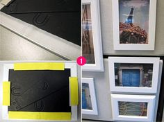 Great to find some cheap frames.or goodwill.Great idea for your cubicle - use velcro on picture frames to decorate your cube walls with pieces that inspire you. Office Cube, Office Workspace, Office Decor, Cute Cubicle, Work Cubicle, Cubicle Ideas, Cubicle Walls, Cubicle Makeover, Office Makeover