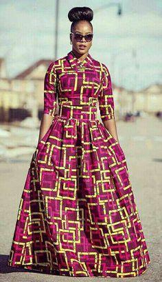 Robe maxi africaine. Robe maxi Ankara par TrueFond sur Etsy