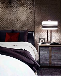Super glam glam #bedroom by Blainey North & Associates.
