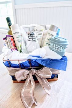 "0f235ce66db8 How to Make a New Mom ""Treat Yourself"" Gift Basket"