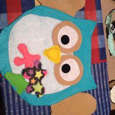 "Felt ""artsy"" owl"