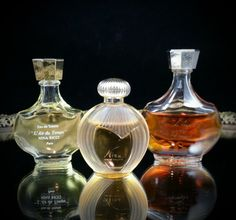3 Mini Nina Ricci France Perfume Bottle Collectible French Parfum Miniature Bottles by OldGLoriEstateSale on Etsy