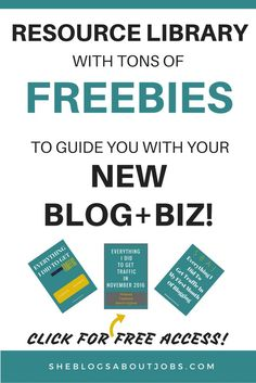 This is a free resource library filled with awesome freebies for the new blogger or business owner.  You can learn tons of great information about running your new business or blog in this free resource library