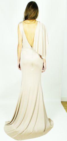 Kirsty Doyle/Madison Silk Jersey & power mesh dress #aw13