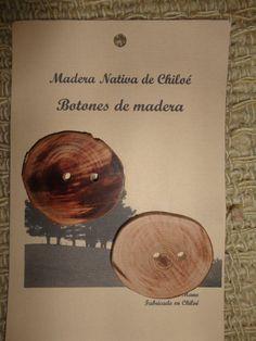 Boton Laminado Rustico en Madera Nativa de por ElEmporiodeSofia