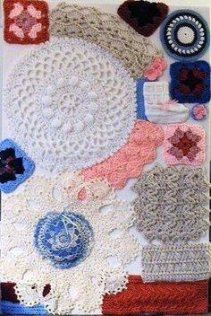 Skerin Knitting & Crochet :  Knitting and/or Crochet By-Products?? Diy #Swatch Boards and Diy #Swatch Frames to make. ; #How #To #Make #Them | by the one and only Wonderful  Skerin.  Great Farmhouse Chic Decor!  Think of Swatch Boards as The Scrapbooking of Knit or Crochet projects and include the pattern so you will have your very own Pinterest-type Scrapbook of Swatches/Patterns/Notes of each and every Swatch! Now you can find 'Grandma's Lace Edging' pattern & know how2 make it too!