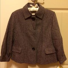 MICHAEL Michael Kors Tweed Jacket MICHAEL Michael Kors brown/black tweed jacket. Has two dark buttons and two front pockets. Sleeves are 3/4 length. New with tags and includes an extra button. Purchased at Dillard's. See photos for sleeve details. MICHAEL Michael Kors Jackets & Coats Blazers