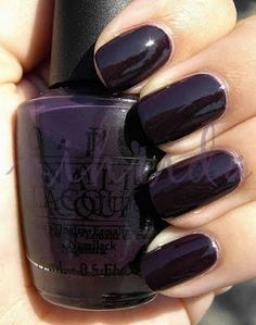 OPI Siberian Nights - got this pedicured this weekend. I LOVE the color... dark dark dark plum.