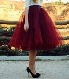 Spring Tulle Skirts 5 Layers Knee Length for Women Summer Pleated Party Vintage Tutu Skirt Girls Cute Petticoat Faldas Jupe