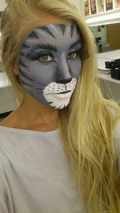 Cat Face Performance Make Up Animal Makeup, Cat Makeup, Maquillage Halloween, Halloween Face Makeup, Fantasy Make Up, Character Makeup, Theatrical Makeup, Theatre Makeup, Special Effects Makeup