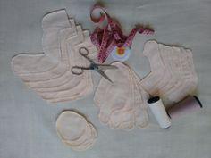 Bonecas porta papel higiênico para montagem