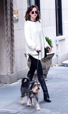 Dakota Johnson & Zepp leave NY for LA - 6 Nov 2015