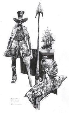 Hommage pour Dino Battaglia by the late master Sergio Toppi Comic Art