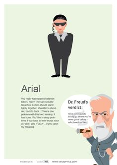 Arial Font Infographic Dr. Freud #Arial #Font #Infographic #inspiration #designer #design